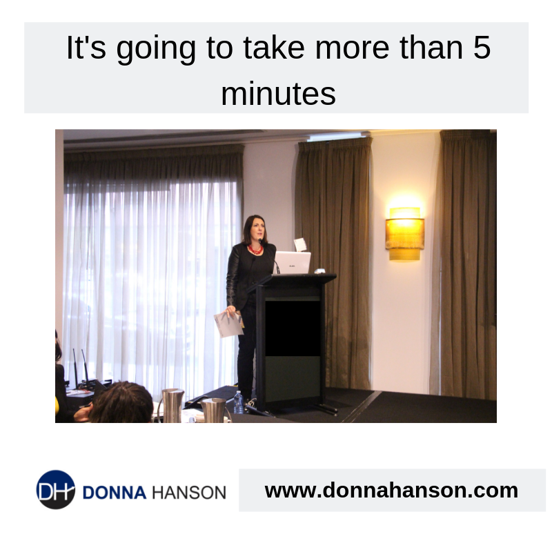 It will take more than 5 minutes!