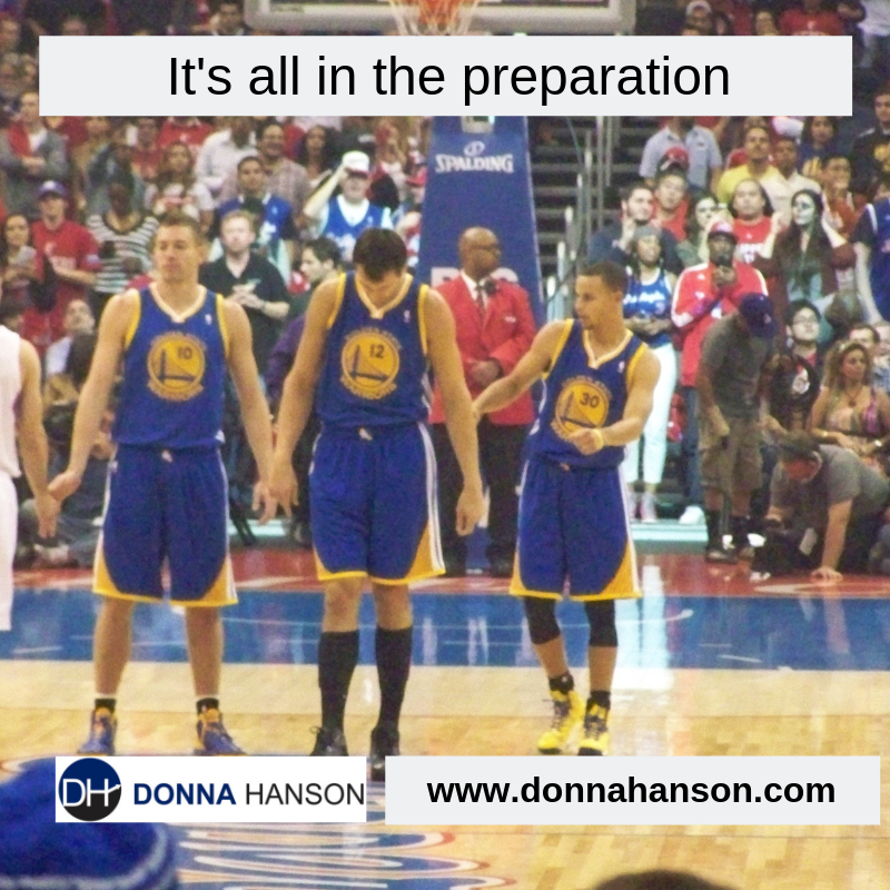 It's all in the preparation